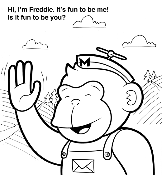 A MailChimp Colouring Book That Seems To Channels Some Curious George Fun