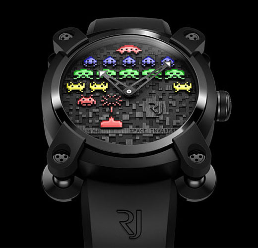 Romain Jerome, a Swiss watchmaker, is making an extremely limited edition (78 pieces!) Space Invaders watches