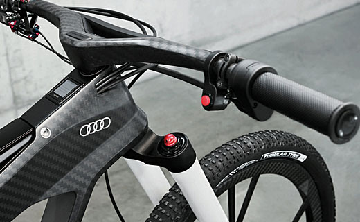 wörthersee, an audi electric bicycle.