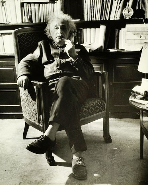 Albert Einstein with his general theory of inactivity