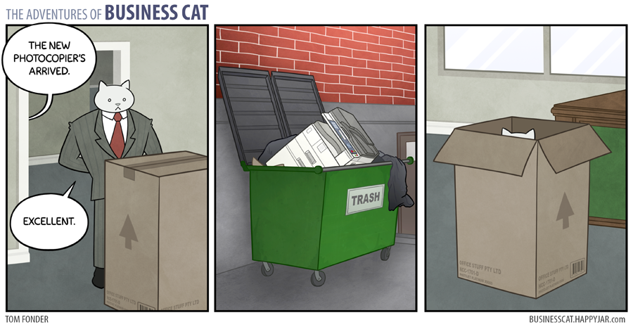 The Adventures of Business Cat had me laughing (on the inside)