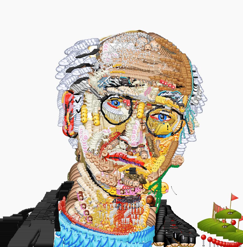 Yung Jake's emoji portrait
